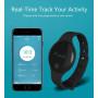 Смарт Фитнес часы TLW08 голубые шагомер вычисляет расстояние ходьбы (время, минуты, секунды) и количество километров.