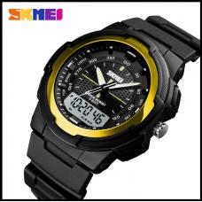 Спортивные часы Skmei 1454 золото 50 m водонепроницаемый (5АТМ)