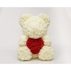 Мишка из роз Beal 40 см Белый (tdx0000981)