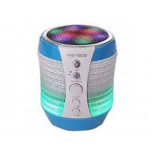 Портативная колонка Bluetooth WSTER WS-1805 со светомузыкой Голубой (200531)