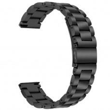 Ремешок BeWatch стальной универсальный 20 мм Черный (1110401.u)