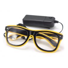 Очки светодиодные прозрачные El Neon неоновые ray Yellow (902117480)