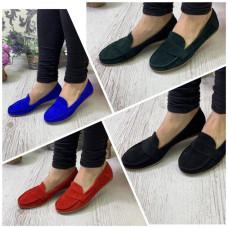 Туфли натуральная замша 36-41 в разных цветах new 2019