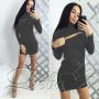 """Платье с длинным рукавом """"Glamour"""" код: 812"""