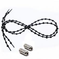 Шнурки для обуви с узелками эластичные с металлическими фиксаторами концов шнурка 2Life (n-504)