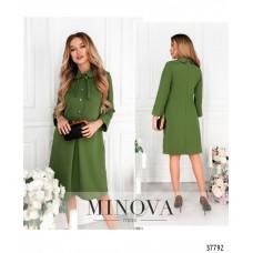 Женское нежное повседневное платье -гороховый
