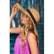 Соломенная шляпа «Бэль» (темно-бежевый) Braxton
