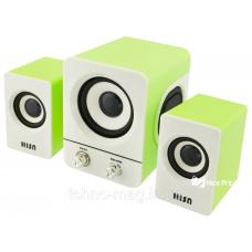 USB колонки для ПК 2.1 Hiraliy H1, зеленые