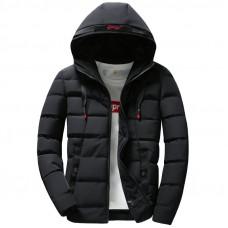 Мужская куртка зимняя водоотталкивающая размер М-4XL черная