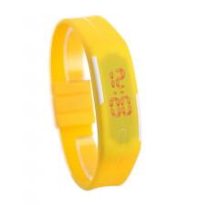 Наручные LED часы браслет желтый