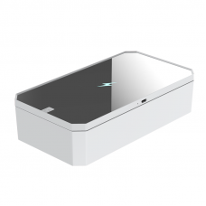 Портативный ультрафиолетовый стерилизатор UV LED с зеркалом и функцией беспроводной зарядки Белый (hub_BWgr07083)