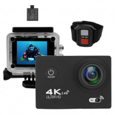 Экшн-камера с моноподом и пультом 2Life B5R Black (n-363)