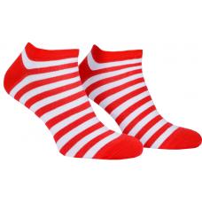 Носки с принтом женские короткие Mushka Cherry mini SWRM01 36-40 Красно-белые (009514)