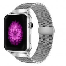 Ремешок BeWatch миланская петля Apple Watch 40 мм Серебристый (1050218)