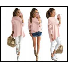 Ассиметричная кофта AWANTI oversize, розовый