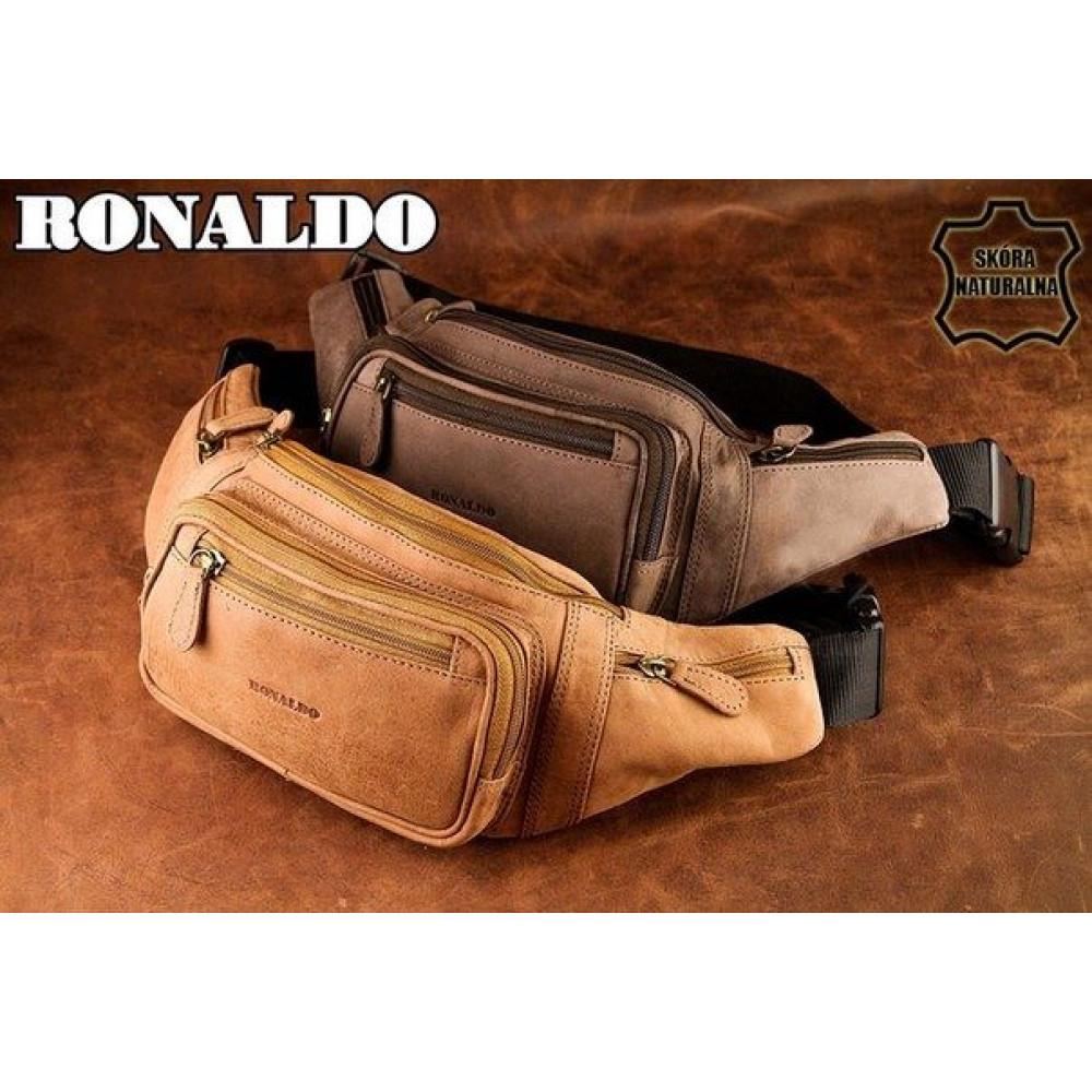 Мужская барсетка сумка на пояс RONALDO Польша Кожа