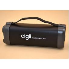 Портативная колонка с FM-радио Cigii F52 (26*9 см). Беспроводная аккустика FM MP3 AUX USB. Портативный Bluetooth-динамик
