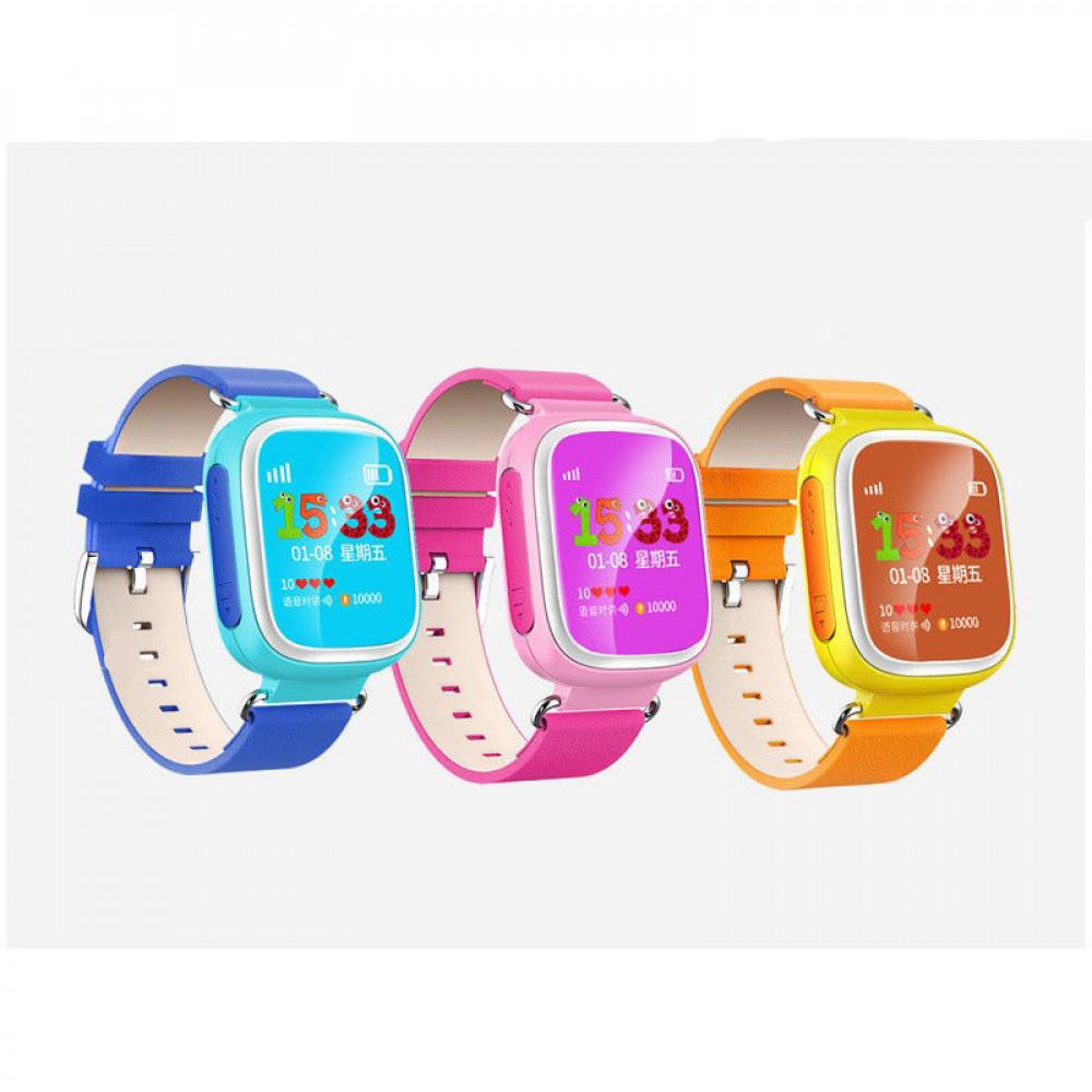 Умные детские Часы с  трекером и цветным экраном Q80  Розовые