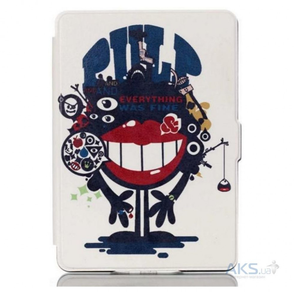 Leather Case for Amazon Kindle Voyage Red Lips