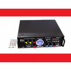 Усилитель звука Kiseki AV-339B + USB + Fm + Mp3 + КАРАОКЕ + Bluetooth