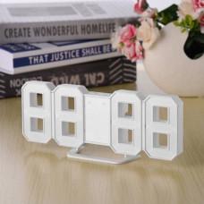 Электронные настольные LED часы с будильником и термометром Caixing CX-2218 белые (синяя подсветка)