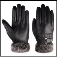 Перчатки  для сенсорных экранов утепленные  с отворотом код 106