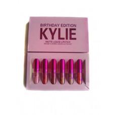 Набор матовых жидких помад KYLIE JENNER Birthday Edition New 6 в 1 (006044)