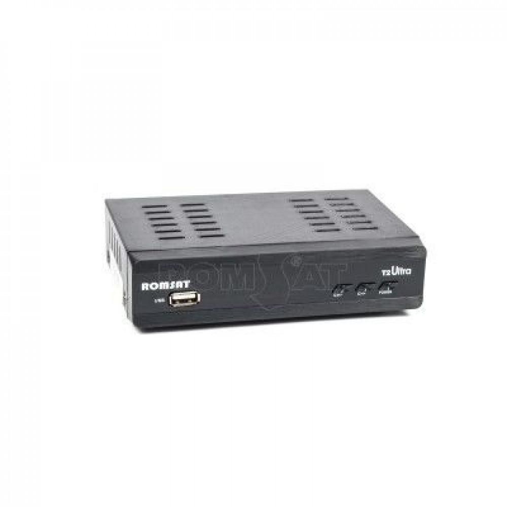 DVB T2 тюнер для цифрового ТВ Romsat Ultra