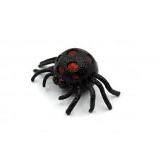 Игрушка-антистресс Паук с красными блестками Черная