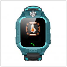 Детские часы Водонепроницаемые F26 зелёные с датчиком измерение температуры тела, Камера