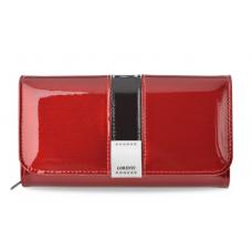 Женский кошелек Lorenti  из натуральной кожи лак (красный) Италия