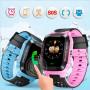 Детские смарт часы с трекером Smart Y21 Синие + фонарик