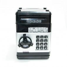 Игрушечный детский сейф с электронным кодовым замком Coins Bills Черный (101043)