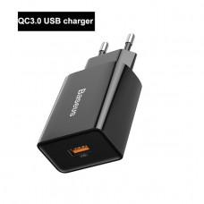 Зарядное Baseus Quick charger USB 18W EU black