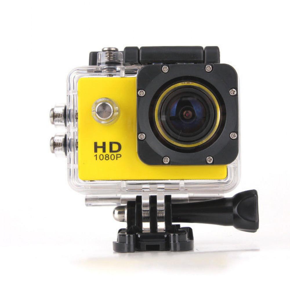 Экшен камера 4000 желтая Камера12 МР  Водонепроницаемый Бокс 30м