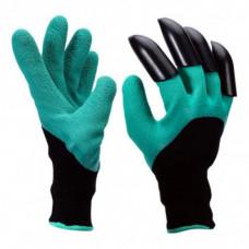 Садовые перчатки Garden Genie Gloves с когтями Черно-бирюзовые (258528)