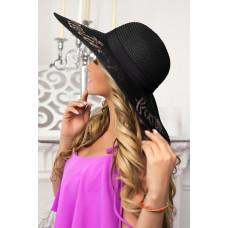Соломенная шляпа «Бэль» (черный) Braxton