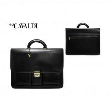 Портфель  мужской из экокожи Cavaldi Eco цвет черный