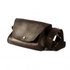 Кожаная женская сумка на пояс The GIrl Шоколад (as180102-s)