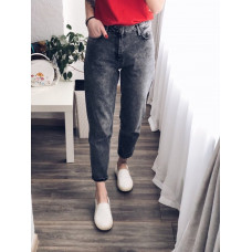 Стильные женские джинсы мом мраморного цвета 27, 28, 29, 30