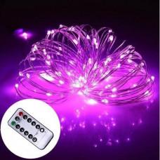 Светодиодная гирлянда LTL нить Капля росы 100 led 10 м c пультом Pink (10м100lpkrm)