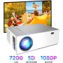 Проектор BOMAKER Native 1080p Full HD проектор для фильмов на открытом воздухе, 7200 люмен