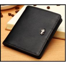 Мужской кошелек BISON DENIM, из натуральной кожи, с блокировкой RFID
