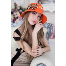 Шляпа «Сюзет» (оранжевый) Braxton