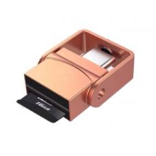 Переходник для карты памяти OTG MicroS Type c to TF Розовое золото (hub_aXGn40843)