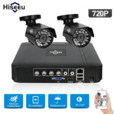 Комплект видеонаблюдения Hiseeu 2ch AHD-1MP 720P Outdoor