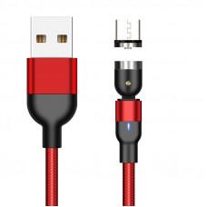 Магнитный кабель для зарядки и передачи данных Greenport 1m 3.0A для microUSB Red (М32А06)