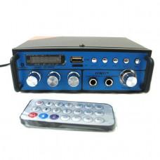 Усилитель звука Bluetooth караоке UKC SN 666 BT Blue (007543)