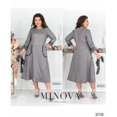 Женское повседневное платье плюс сайз -серый