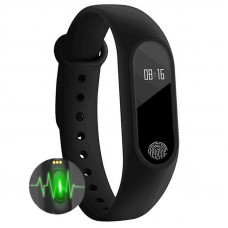 Фитнесс браслет Fitness bracelet М2 черный с Монитором  Сердечного ритма